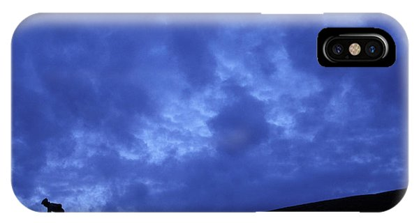 It Professional iPhone Case - A Silhouette Of A Woman Mountain Biking by Corey Rich