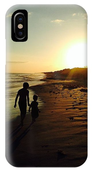 A Walk On The Beach IPhone Case