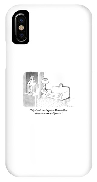 A Wife Stands In The Doorway Of The Living Room IPhone Case