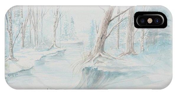 A Winter Path IPhone Case