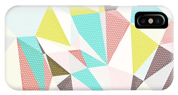 Cover iPhone Case - Abstract Background With Triangles And by Romas photo