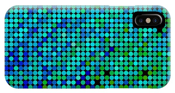 Drop iPhone Case - Abstract Vector Colored Round Dots by Green Flame