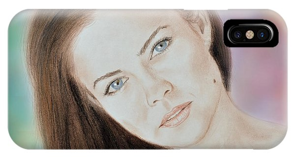 Actress And Model Susan Ward Blue Eyed Beauty With A Mole IPhone Case