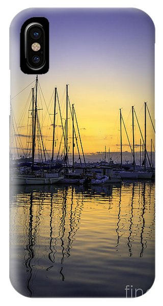 Aegina Harbour Sunset IPhone Case