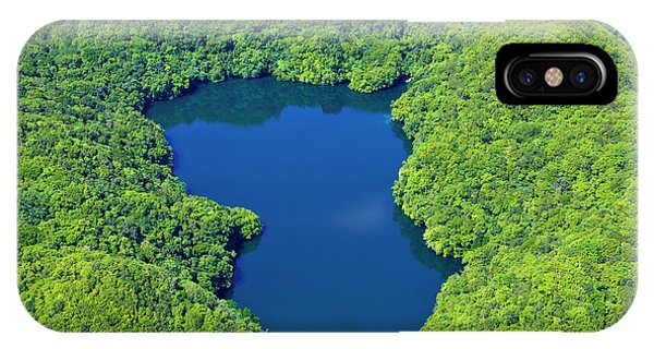 Micronesia iPhone Case - Aerial View Of Jelly Fish Lake by Keren Su