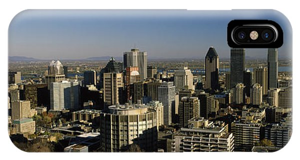 Quebec City iPhone Case - Aerial View Of Skyscrapers In A City by Panoramic Images