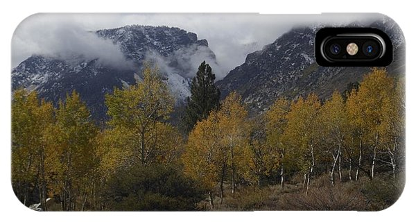 Aerie Crag And Aspen Trees IPhone Case