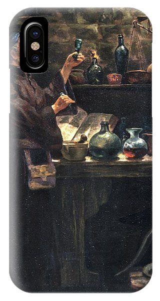 Alchemist At Work Phone Case by Will Brown/chemical Heritage Foundation/science Photo Library