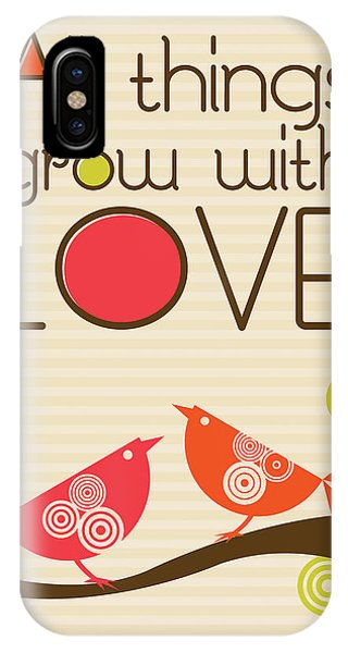 Valentines Day iPhone X Case - All Things Grow With Love by Valentina Ramos
