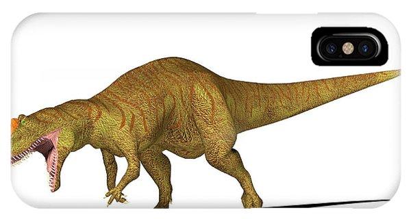 Allosaurus Dinosaur Phone Case by Friedrich Saurer
