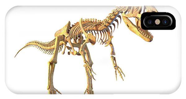 Allosaurus Skeleton Phone Case by Roger Harris/science Photo Library