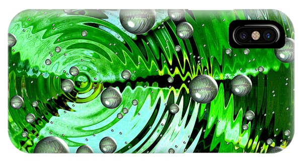 Amazing. Abstract Art. Green Grey  Blue Yellow  IPhone Case