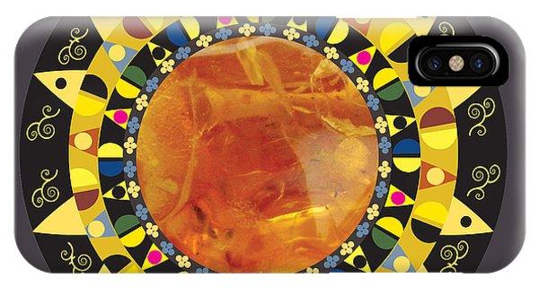 Amber Mandala IPhone Case