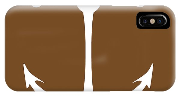 Anchor In Brown And White IPhone Case