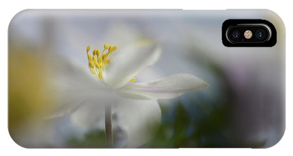Macro iPhone Case - Anemone Nemorosa by Heidi Westum