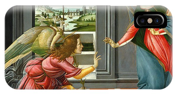 Botticelli iPhone Case - Annunciation by Sandro Botticelli