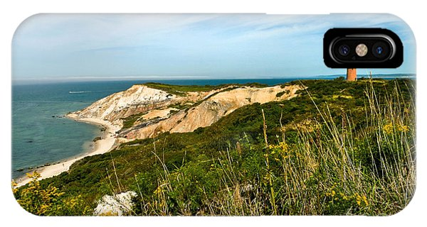 Aquinnah Gay Head Lighthouse Marthas Vineyard Massachusetts IPhone Case