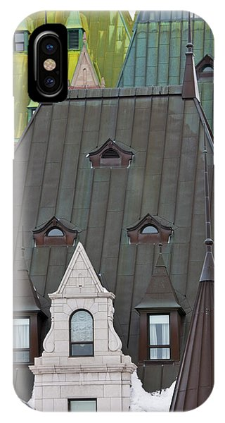 Quebec City iPhone Case - Architectural Details Of Chateau by Keren Su