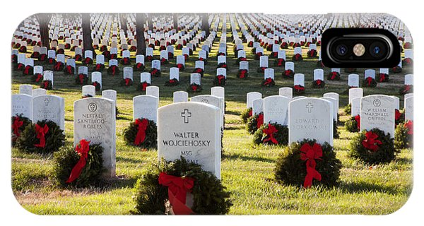 Arlington Cemetery Wreaths IPhone Case
