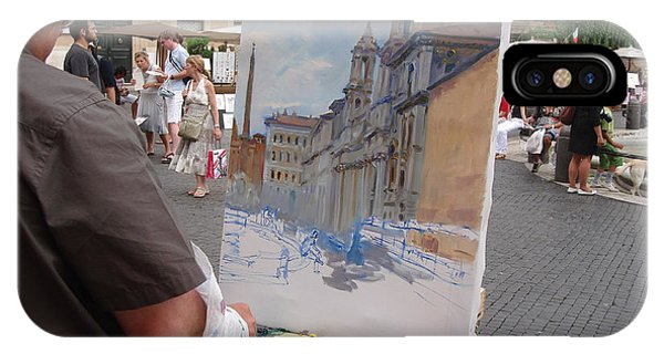 At Work iPhone Case - Artist At Work Rome by Ylli Haruni