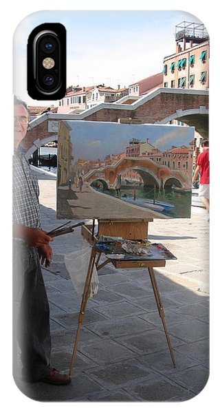 At Work iPhone Case - Artist At Work Venice by Ylli Haruni