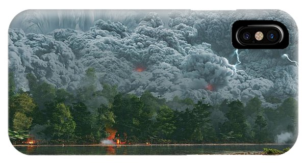 Pyroclastic Flow iPhone Case - Artwork Of A Pyroclastic Flow by Mark Garlick