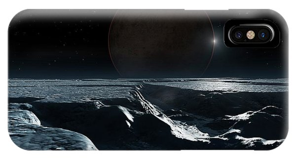 Artwork Of Pluto Seen From Charon IPhone Case