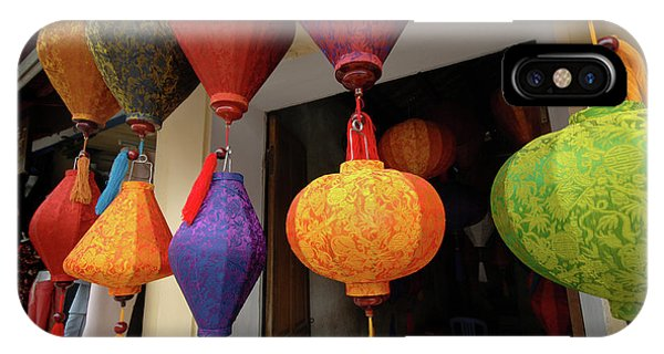 Asia, Vietnam Colorful Fabric Lanterns Phone Case by Kevin Oke