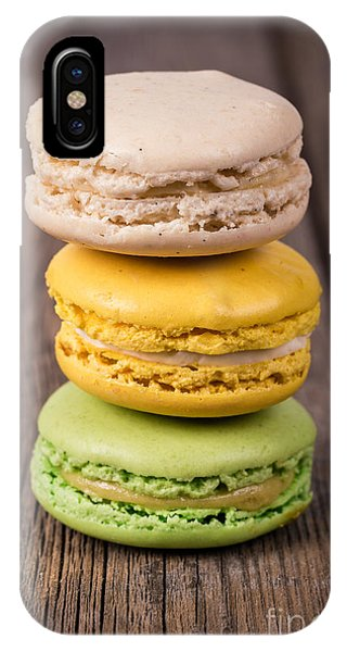 Dessert iPhone Case - Assorted Macaroons Vintage by Jane Rix