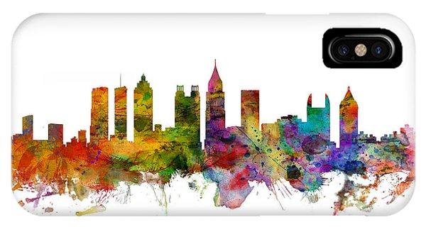 Georgia iPhone Case - Atlanta Georgia Skyline by Michael Tompsett