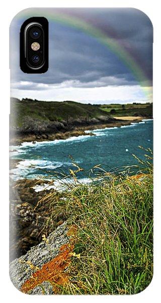 Rainbow iPhone Case - Atlantic Coast In Brittany by Elena Elisseeva