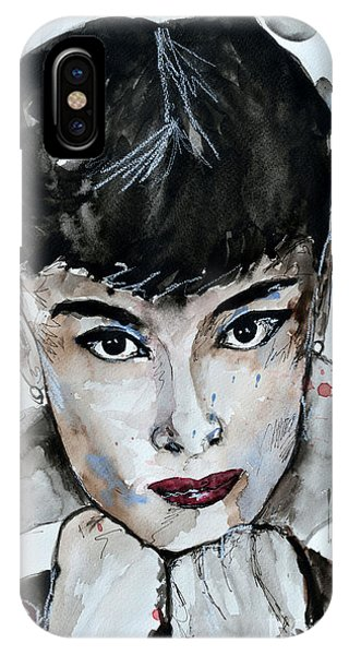 Audrey Hepburn - Abstract Art IPhone Case