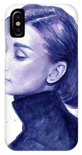 Elegant iPhone Case - Audrey Hepburn Portrait by Olga Shvartsur