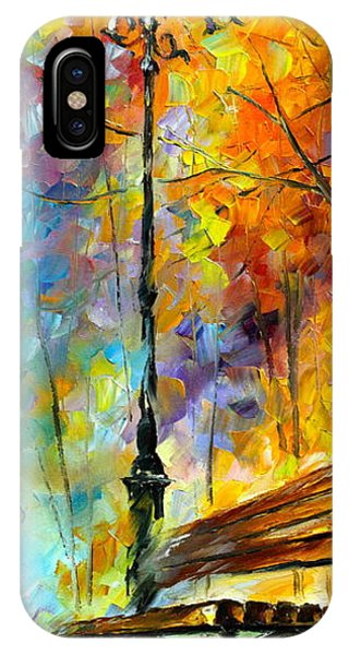 Afremov iPhone X Case - Aura Of Autumn 2 by Leonid Afremov