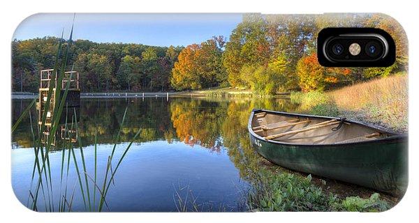 Chilhowee iPhone Case - Autumn Lake by Debra and Dave Vanderlaan