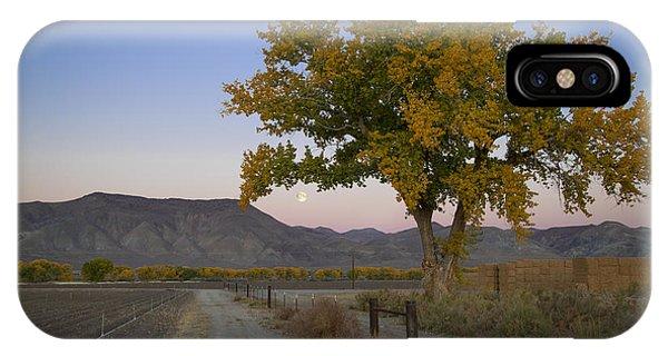 Autumn Moonset IPhone Case
