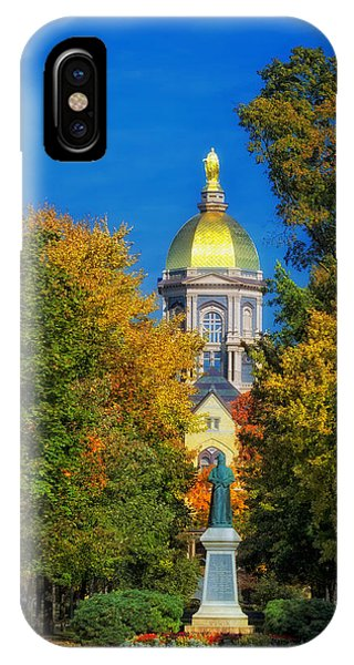 Autumn On The Campus Of Notre Dame IPhone Case