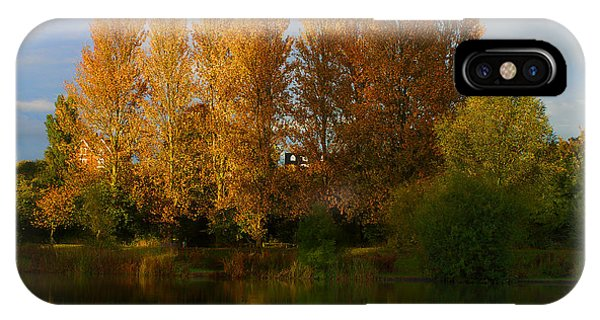 IPhone Case featuring the photograph Autumn Trees by Jeremy Hayden