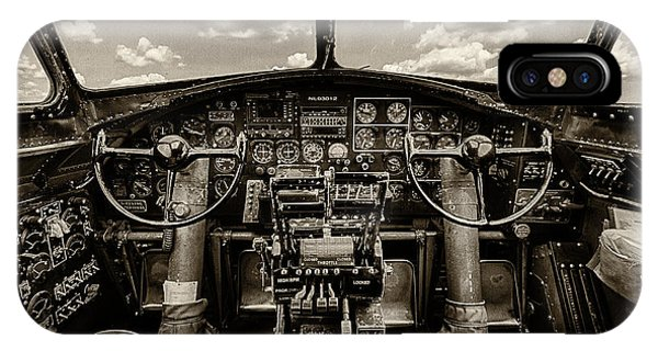 Uas iPhone Case - Cockpit Of A B-17 by Mike Burgquist