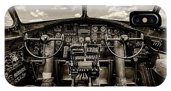 Flying iPhone Case - Cockpit Of A B-17 by Mike Burgquist