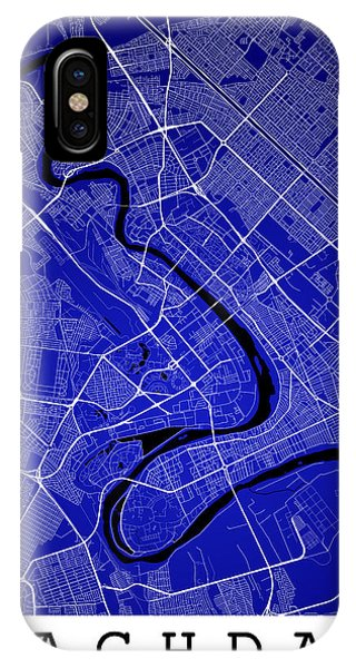 Baghdad Street Map - Baghdad Iraq Road Map Art On Color IPhone Case