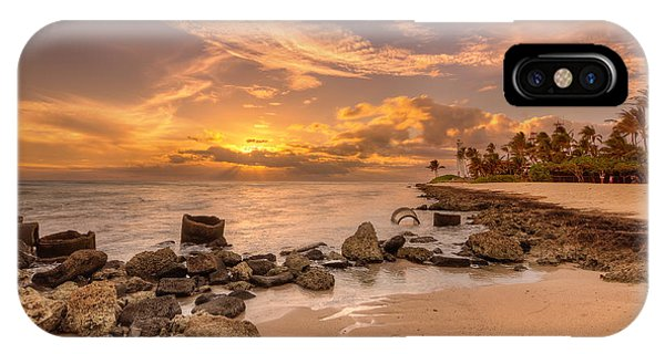 Barbers Point Light House Sunset IPhone Case