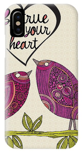 Valentine iPhone Case - Be True To Your Heart by Valentina Ramos