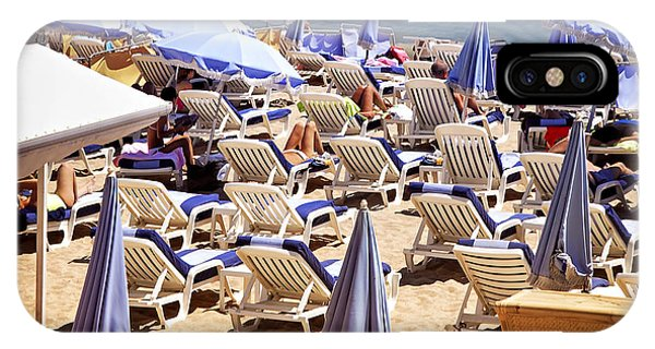 French Riviera iPhone Case - Beach In Cannes by Elena Elisseeva
