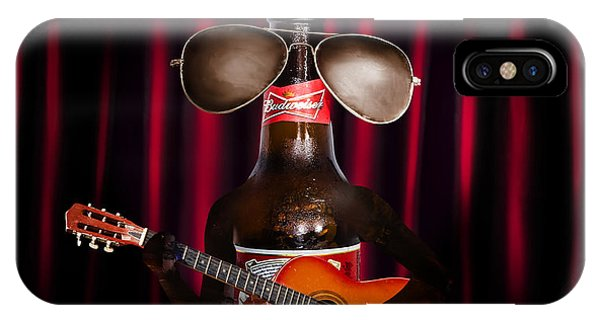 Guitar Legends iPhone Case - Beer Bottle Music Performer Playing Opening Act by Jorgo Photography - Wall Art Gallery