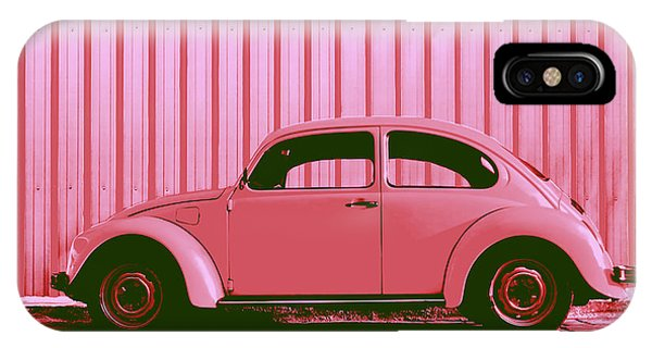 Hot iPhone Case - Beetle Pop Pink by Laura Fasulo