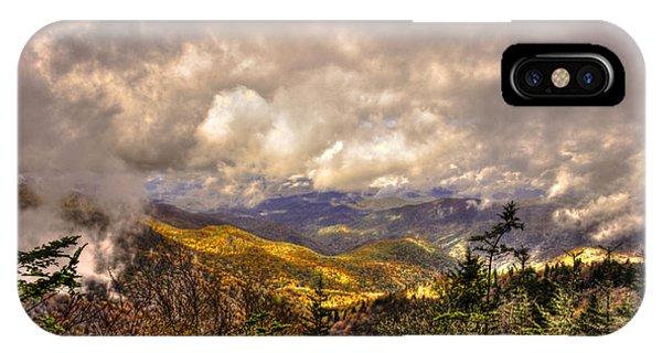 Between The Clouds Blue Ridge Parkway North Carolina IPhone Case