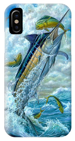 Big Jump Blue Marlin With Mahi Mahi IPhone Case