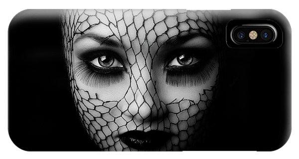 Lips iPhone Case - Black by Oren Hayman