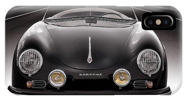 Automotive iPhone Case - Black Porsche Speedster by Douglas Pittman